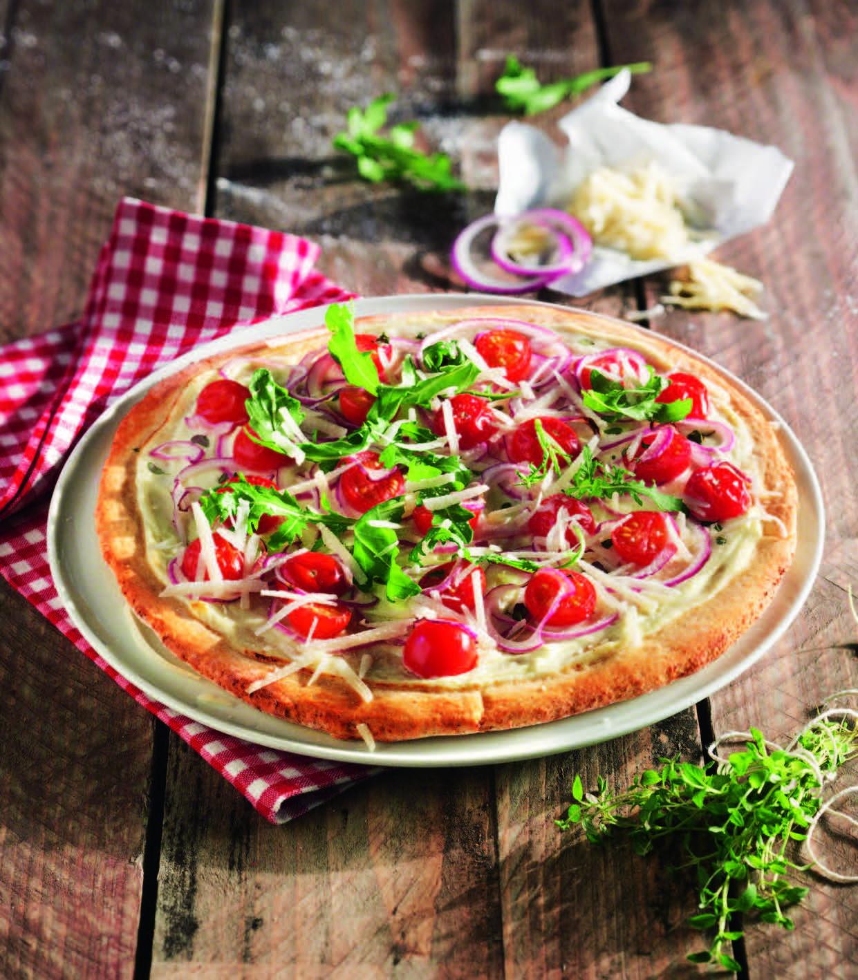 kichererbsen pizza mit rucola und tomaten aus meinem kochbuch clean eating. Black Bedroom Furniture Sets. Home Design Ideas